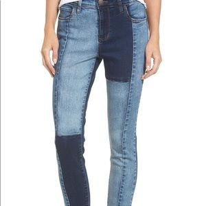 STS Blue Jeans Piper Colorblock Ankle Skinny Jeans